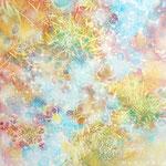 そらのかけら-6 油彩、キャンバス 15×15cm