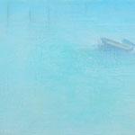 水辺のかたち    14×18cm アクリル、油彩、キャンバス