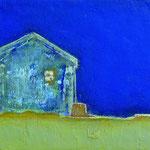 夜  アクリル、油彩、綿布、パネル 29.5×21cm   2007