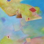 色層に遊ぶ P8号   33.3×45.5cm アクリル・油彩・キャンバス