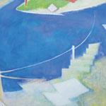 水辺のかたち11-1 アクリル、油彩、キャンバス 97×145.5cm   2011