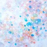 ふりつもる-5 油彩、キャンバス 15×15cm
