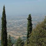 Blick auf den Stadtteil Santa Maria degli Angeli