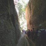 Ende der Via Cava di San Giuseppe