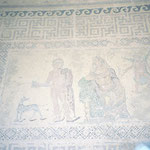 Mosaik Mythos über Phaedra und Hippolitos