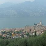 Blick auf Malcesine und Castello Scaligero