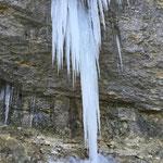 Impressionen vom winterlichen Wasserfall
