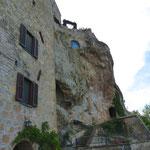 Bein Aufstieg in die Stadt Pitigliano