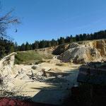 Steinbruch oberhalb Trameln