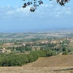 Blick auf San Quirico d'Orcia