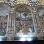 Wandmalerei in der Piccolomini-Bibliothek