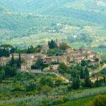 Blick auf Montefioralle