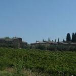 Blick zurück auf Villa a Tolli