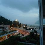 Abendstimmung aus dem Hotelfenster