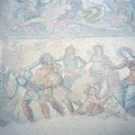 Mosaik Apollo der Gott des Musik im Streit mit Sterblichen