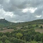 Blick zum Rocca d'Orcia