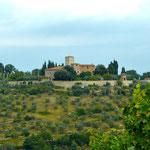 Blick auf Castello di Colognole