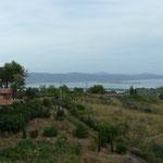 In der Lagune die Stadt Orbetello