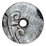 SCUDO n°9. 2019-vernice/metallo inciso - diametro 75cm