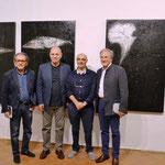 Silvio D'Antonio (artista), Massimo Bignardi (critico), Enzo Cursaro, Michele Risi (artista)