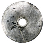 SCUDO N° 3  2018  vernice su ferro inciso diametro 75cm