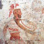 Dipinto di una tomba lucana del IV sec. a.C.