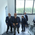 Il critico Massimo Bignardi e Enzo Cursaro