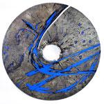 SCUDO n°11   2019 - vernice e incisioni su ferro inciso diametro 75 cm