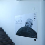 ingresso della mostra nel Convergenze Innovation Center