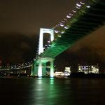 22:30 竹芝桟橋からレインボーブリッジをくぐり、出発です!
