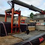 Erste Materiallieferung 12.05.2014
