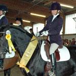 Donna Rubina v. Don Cardinale a.d. Dana v. Landcup B x Belmont, Siegerin des PZG-Holledau-Dresurpferdecups 2005