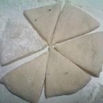 ピザカットした三角形がマンダジの基本形です。