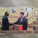 ケニアと中国の国交樹立50周年記念の切手