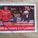ケニア独立50周年の切手