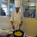 朝食は卵をお好みで調理してもらえます