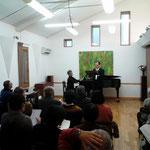 12月1日 講演会の合間に、歌とピアノのミニコンサート♪