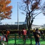 アンプティーサッカー選手と一緒にサッカー体験のコーナー