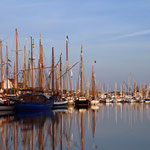 Der Stadthafen von Rostock zur Hanse Sail.
