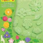 1866 1061 Push Molds  Flowers / Fleurs 17,5 x 14 cm EURO: 5,95