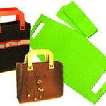 Basi borse in feltro 2 modelli rett. e quadrata EURO 13,00 (per colori disp chiedere in messaggio)