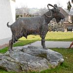 Bronzeskulptur Geißbock