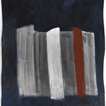 Stripes, 2018. Acryl-Cellulose auf Papier auf Leinwand. 110 x 99 cm.