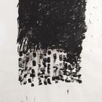 Black Rain, 2017. Gouache auf Papier. 115 x 100 cm.