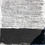 Lost lines, 2020. Acryl-Cellulose auf Papier. 120 x 100 cm.