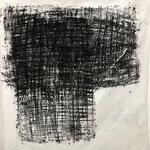 On the way, 2020. Acryl-Cellulose auf Papier. 110 x 100 cm.