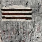 In transition, 2019. Acryl-Cellulose auf Papier. 110 x 100 cm.