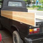 VW T3 Pritsche, Ladefläche mit Holz, Douglasie