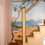 Wandmalerei für ein Einfamilienhaus