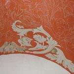 Vorzeichnung der Gewölbemalerei für eine Villa in Berlin Schlachtensee